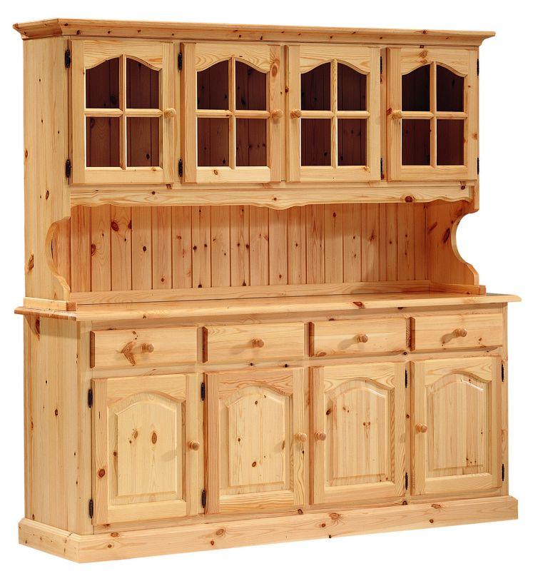 Gallery asl furniture for Buffet cuisine en pin